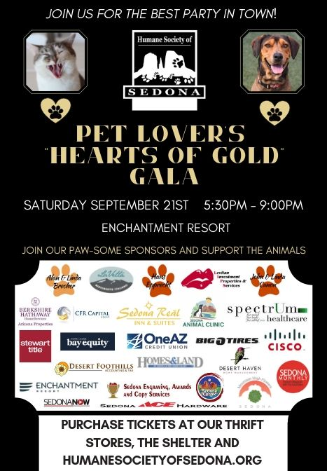 SEPTEMBER 21st ANNUAL PET LOVER'S GALA TICKETS ON SALE NOW!