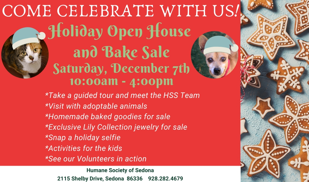 Press Release:  Holiday Open House and Bake Sale