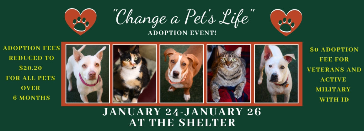 Press Release:  Change a Pet's Life Adoption Event