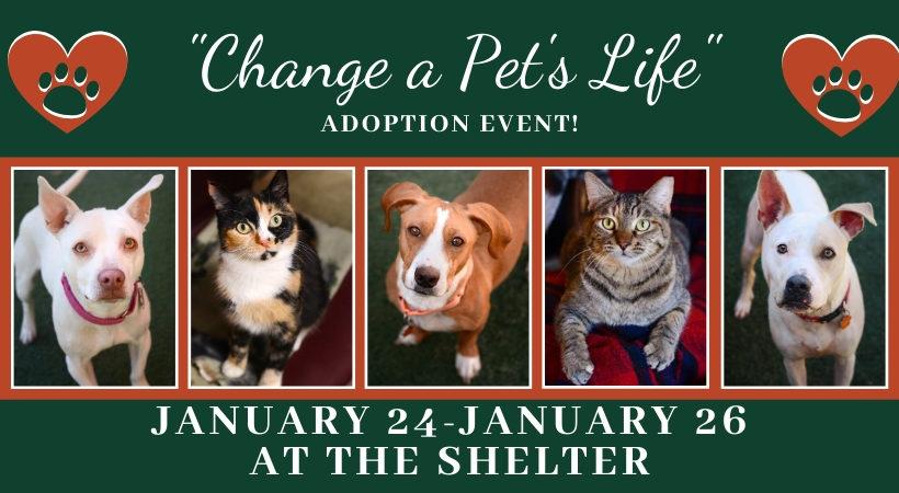Press Release:  Change a Pet's Life Adoption Event